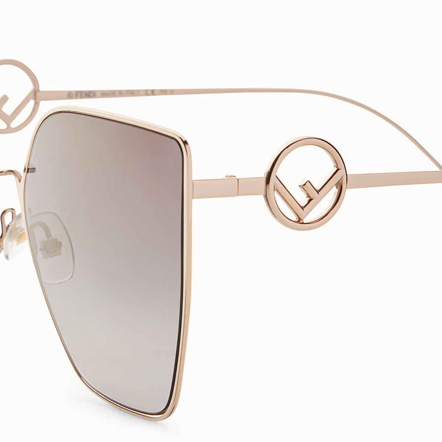 FENDI F IS FENDI - Copper-coloured sunglasses - view 3 detail