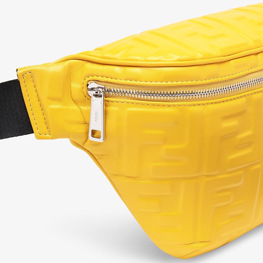 FENDI BELT BAG - Yellow nappa leather belt bag - view 5 detail