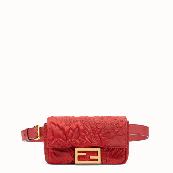 FENDI BELT BAG - Red fabric minibag - view 1 small thumbnail