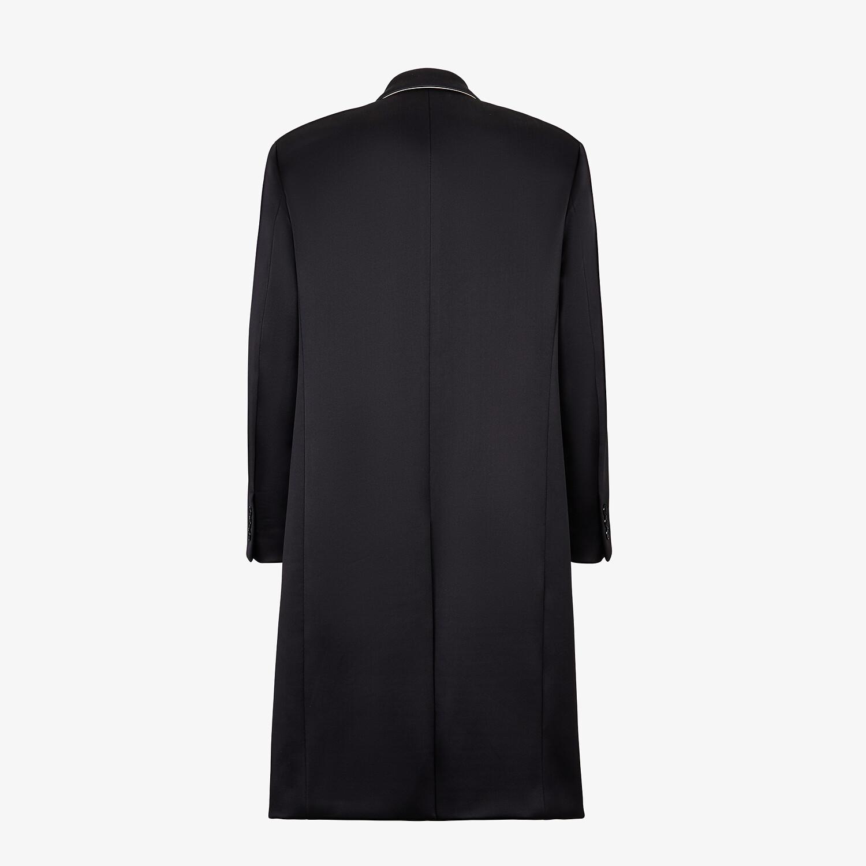 FENDI COAT - Black satin coat - view 2 detail