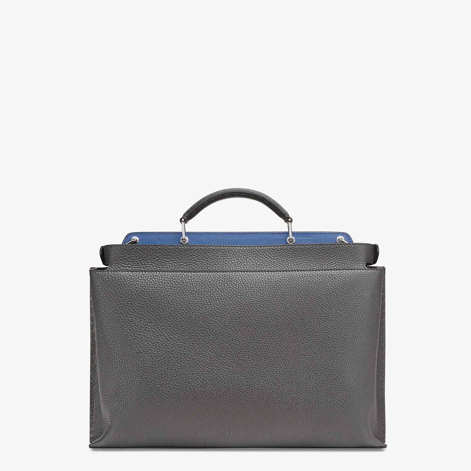 FENDI PEEKABOO ICONIC ESSENTIAL - Gray leather bag - view 3 detail