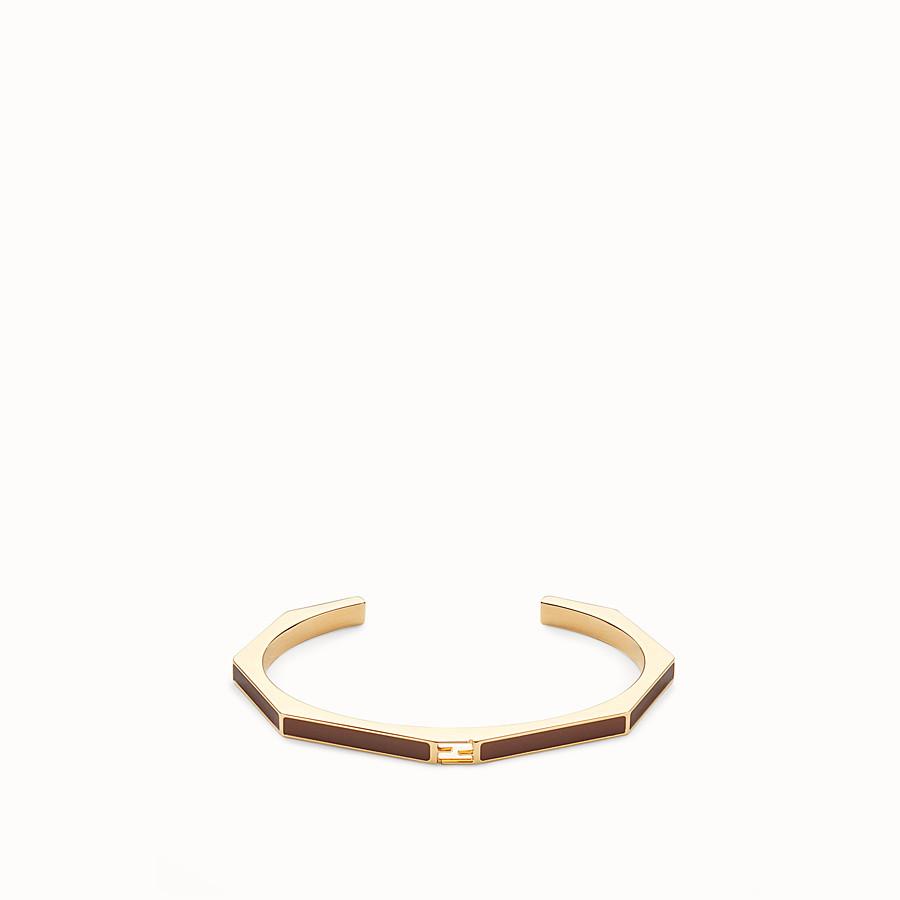 FENDI BAGUETTE BRACELET - Polished brown bracelet - view 1 detail