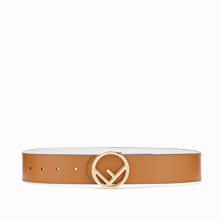 FENDI F IS FENDI BELT - Brown leather belt - view 1 detail