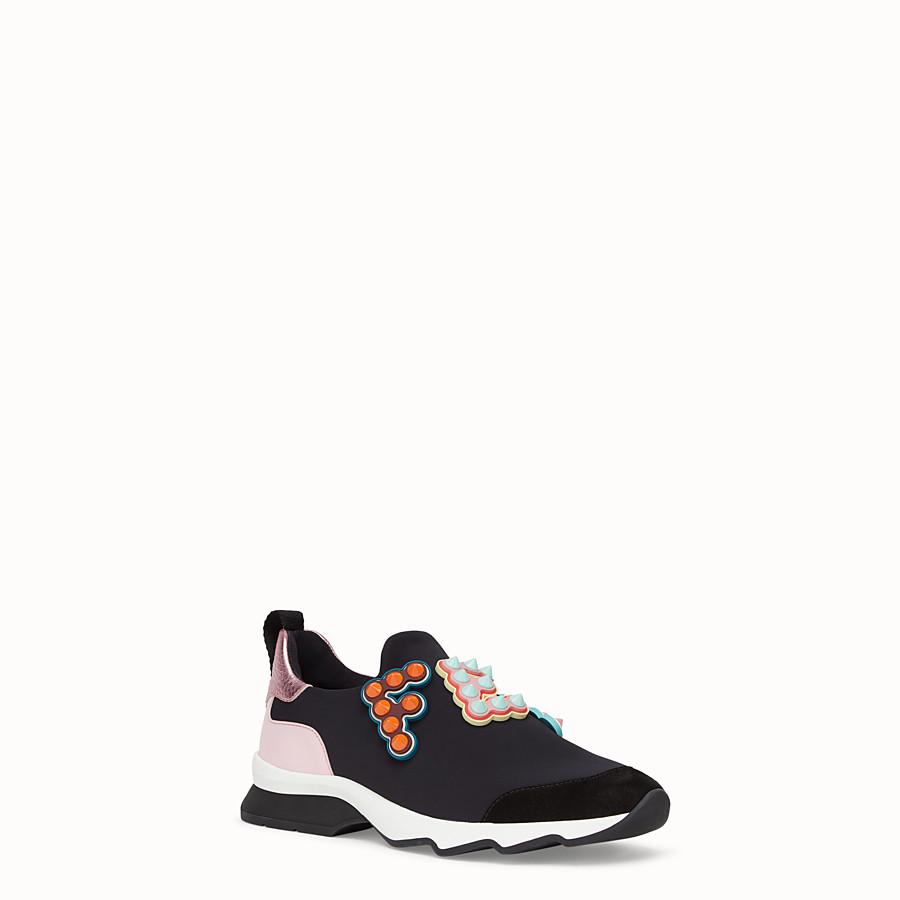 FENDI SNEAKERS - Sneakers en tissu technique noir - view 2 detail