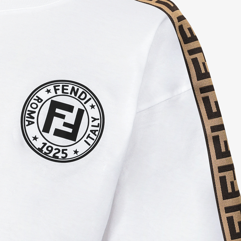 FENDI T-SHIRT - White jersey skirt - view 3 detail