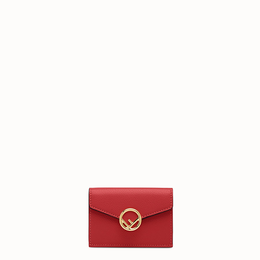 FENDI MICRO TRIFOLD - Red leather wallet - view 1 detail