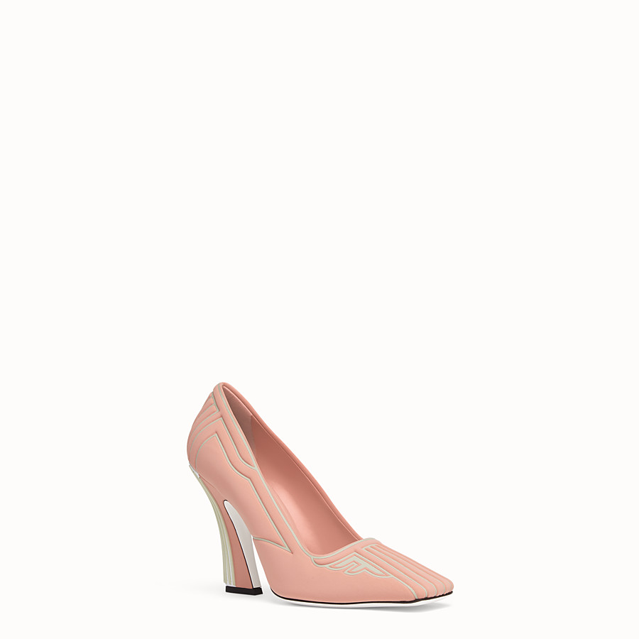 FENDI PUMPS - Pink fabric pumps - view 2 detail