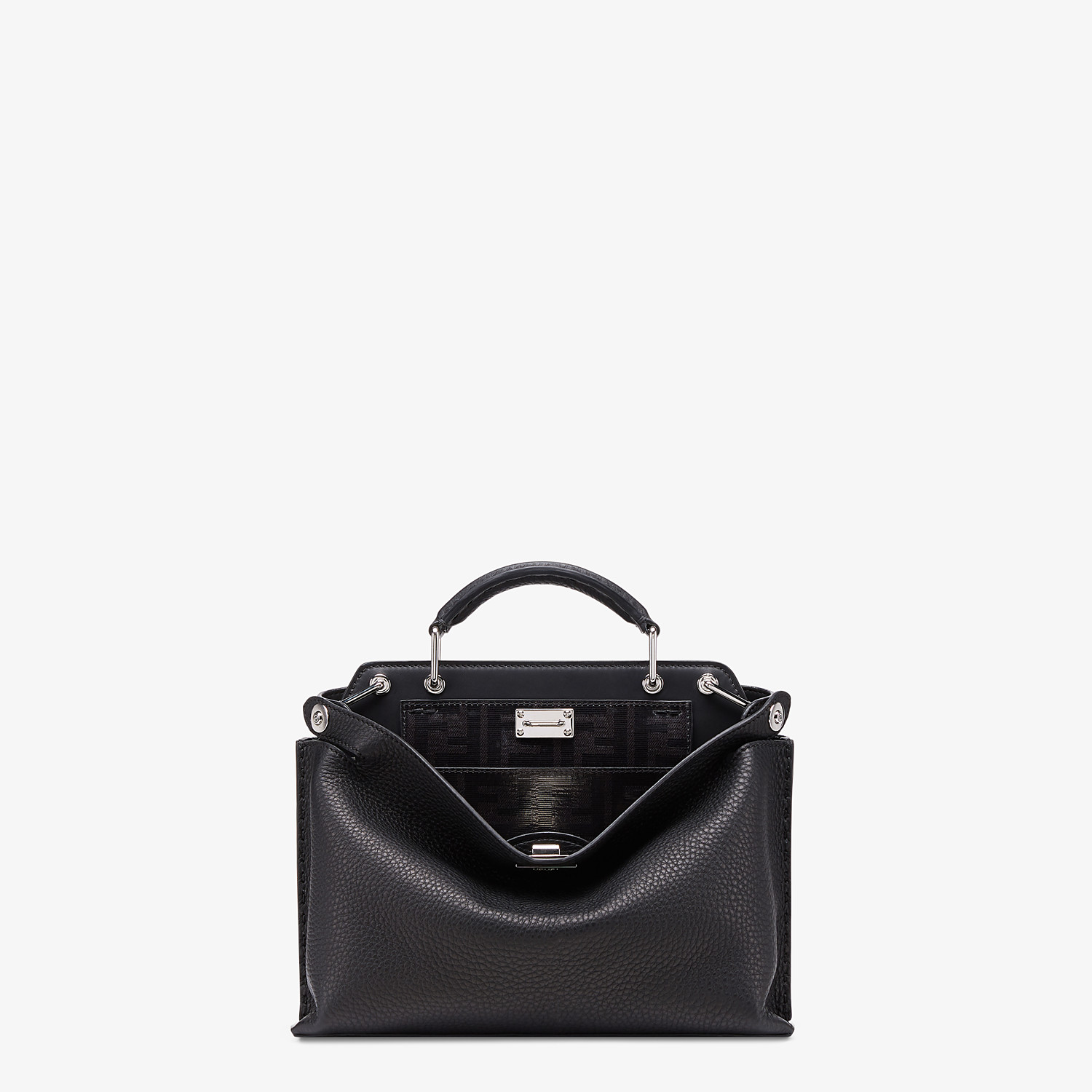 FENDI PEEKABOO ICONIC ESSENTIALLY - Black leather bag - view 1 detail