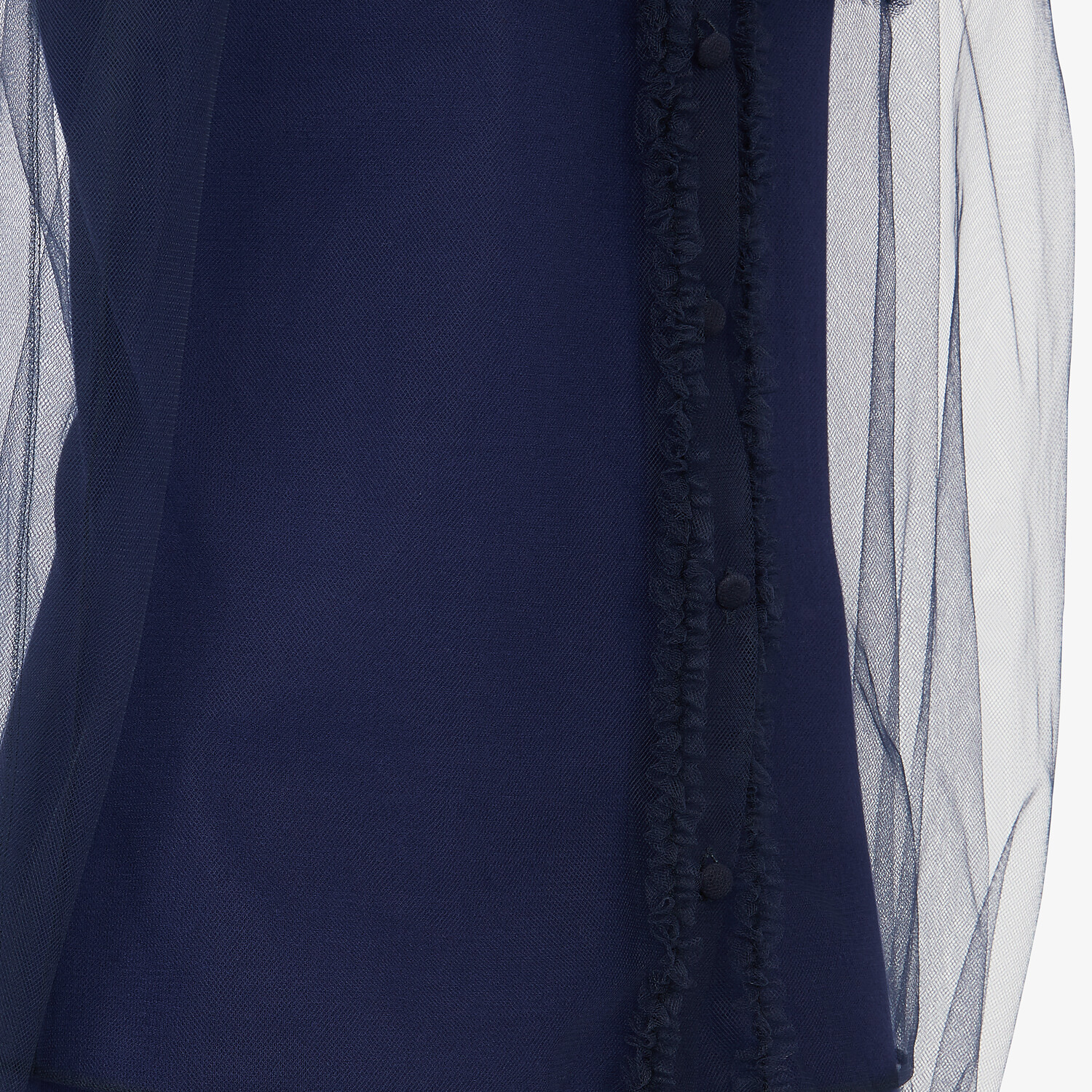 FENDI SHIRT - Blue tulle shirt - view 3 detail
