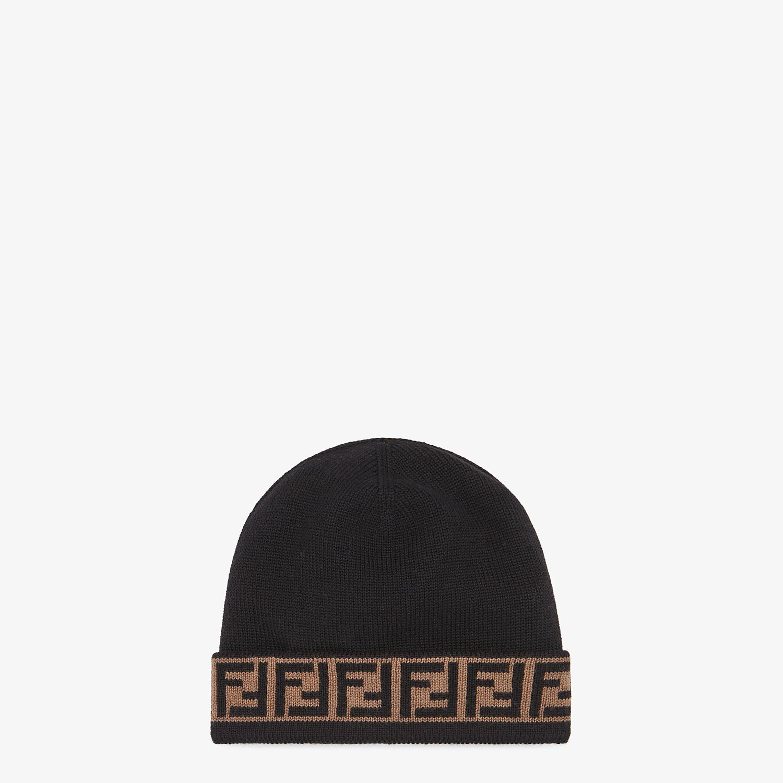 FENDI HAT - Black wool hat - view 1 detail