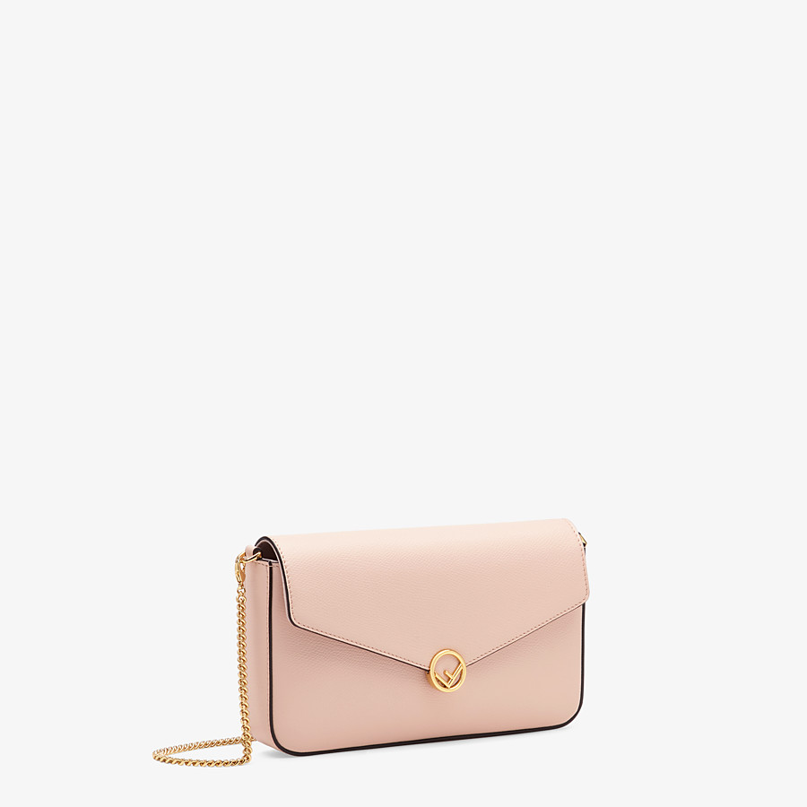 FENDI WALLET ON CHAIN WITH POUCHES - Pink leather minibag - view 4 detail
