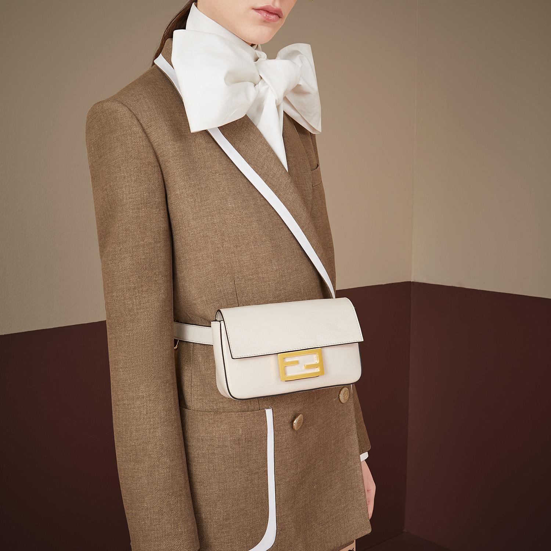 FENDI BELT BAG - White leather minibag - view 2 detail