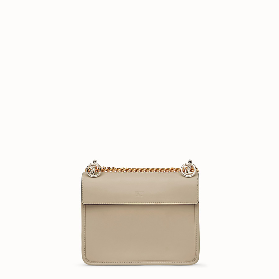 FENDI KAN I F SMALL - Mini sac en cuir gris - view 3 detail