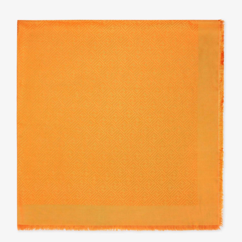 FENDI FF SHAWL - Orange silk and wool shawl - view 1 detail