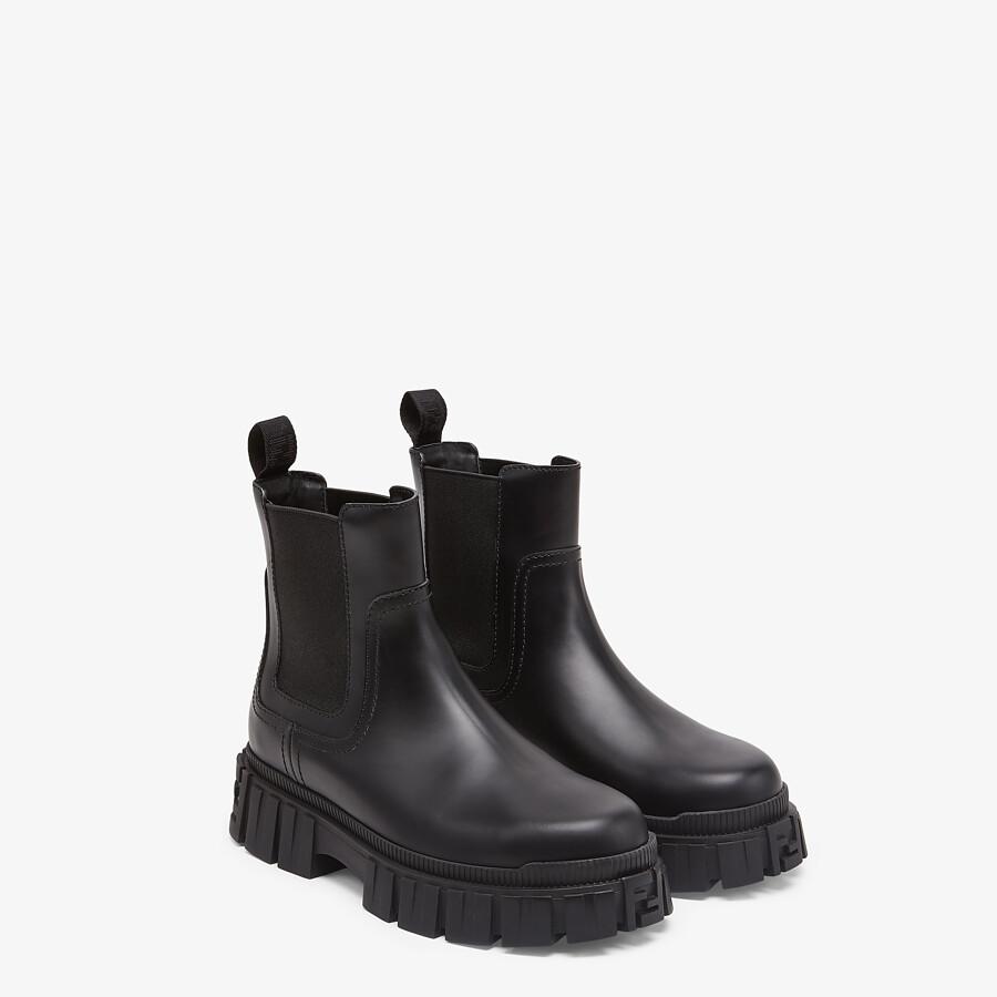 FENDI FENDI FORCE - Black leather Chelsea boots - view 4 detail