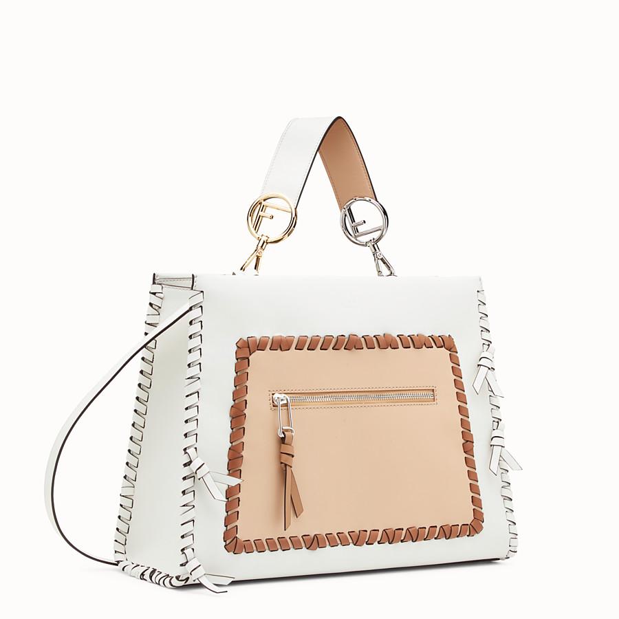 FENDI RUNAWAY REGULAR - White leather bag - view 2 detail