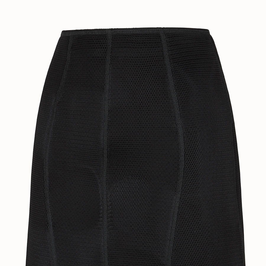 FENDI SKIRT - Black micromesh skirt - view 3 detail
