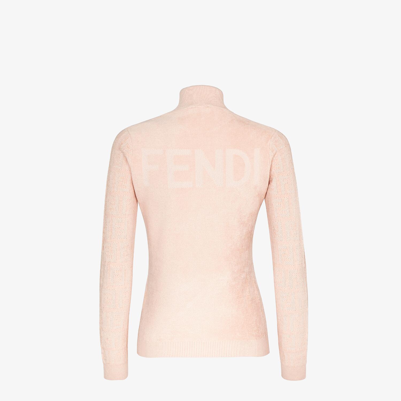 FENDI MAGLIA - Maglia in velluto rosa - vista 2 dettaglio
