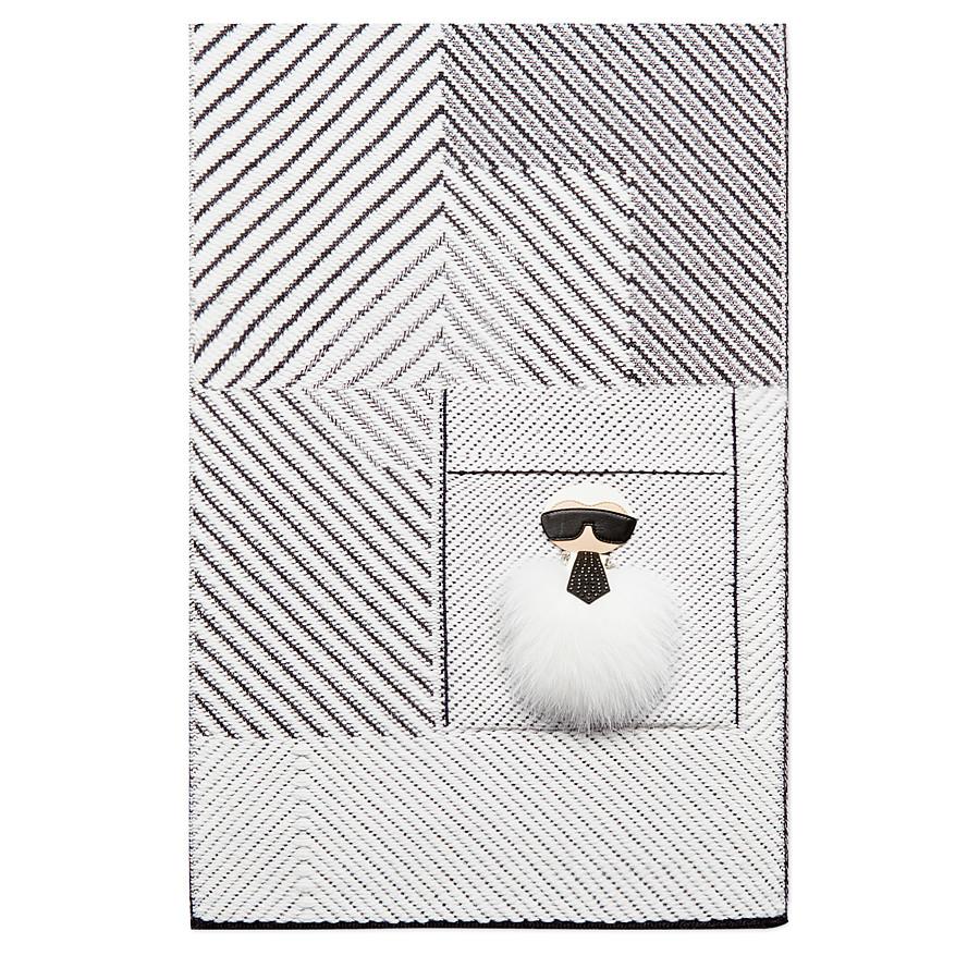 FENDI KARLITO SCHAL - aus Kaschmir und Wolle mit Stickereien - view 2 detail