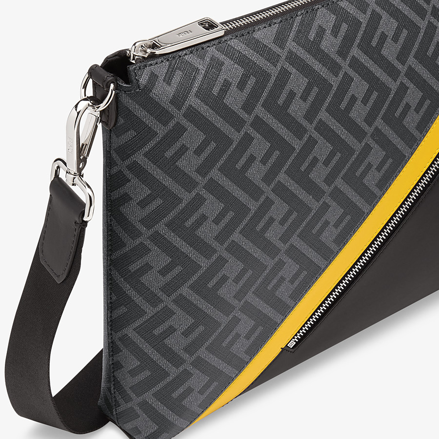 FENDI MESSENGER - Grey fabric bag - view 5 detail