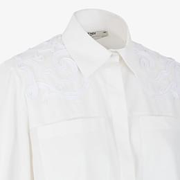 FENDI SHIRT - White cotton taffeta shirt - view 3 thumbnail