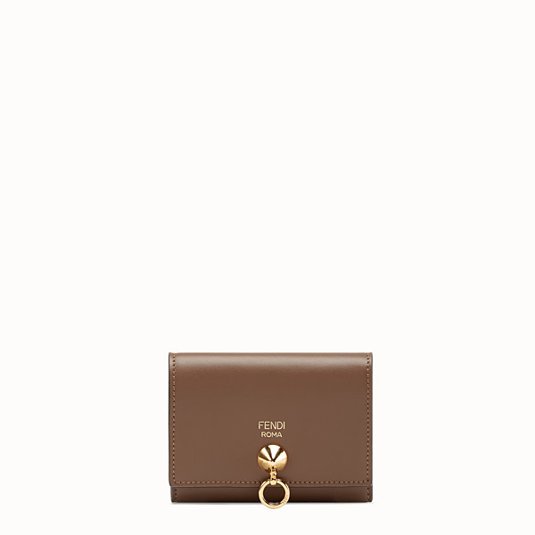 FENDI CARD HOLDER - Brown leather business card holder - view 1 small thumbnail