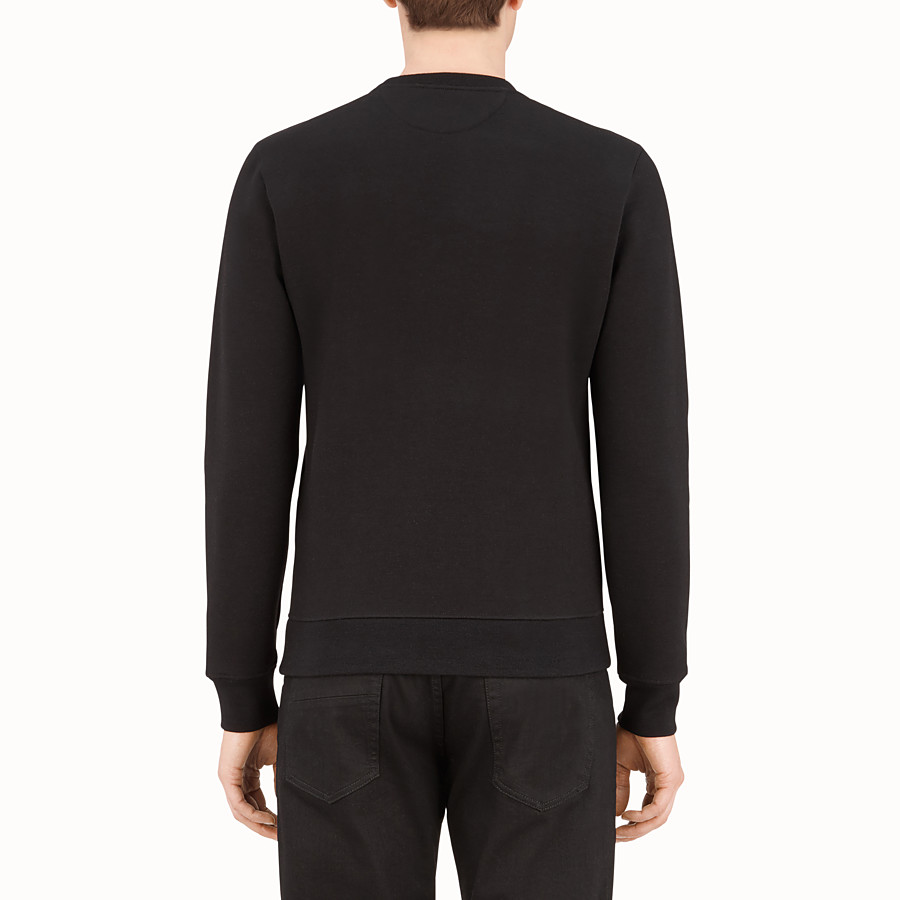 FENDI SWEATSHIRT - Sweatshirt aus Wolle in Schwarz - view 2 detail