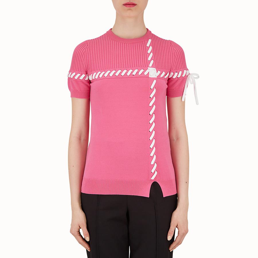 FENDI 毛衣 - 紫紅色布料上衣 - view 1 detail