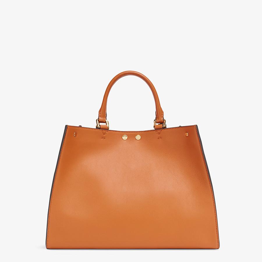 FENDI SMALL PEEKABOO X-TOTE -  Brown leather bag - view 4 detail