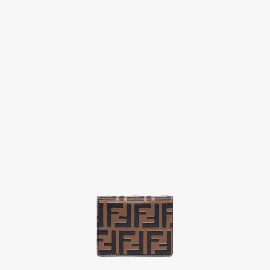 FENDI WALLET ON CHAIN - Brown leather mini-bag - view 3 detail