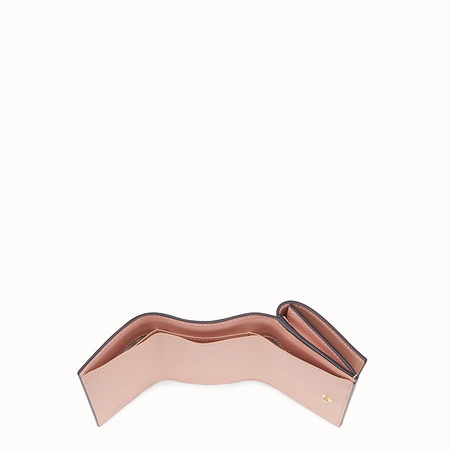 FENDI MICRO TRIFOLD - Portafoglio in pelle beige - vista 4 dettaglio