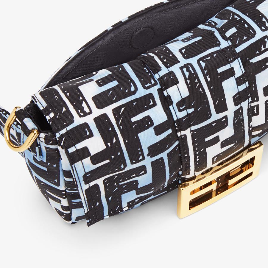 FENDI BELT BAGUETTE SMALL - Nylon FF print bag - view 7 detail