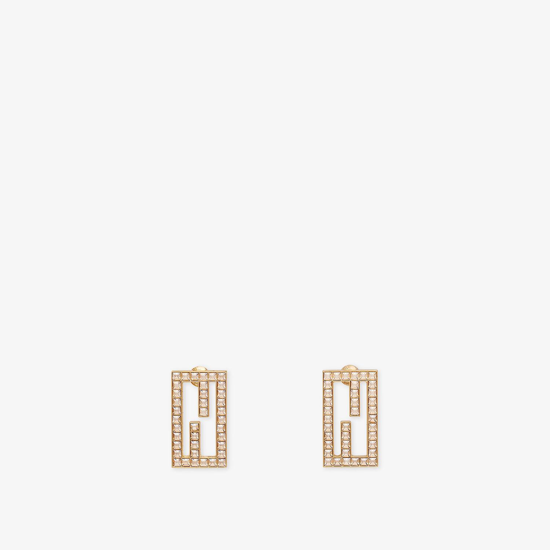 FENDI BAGUETTE EARRINGS - Gold-color earrings - view 1 detail