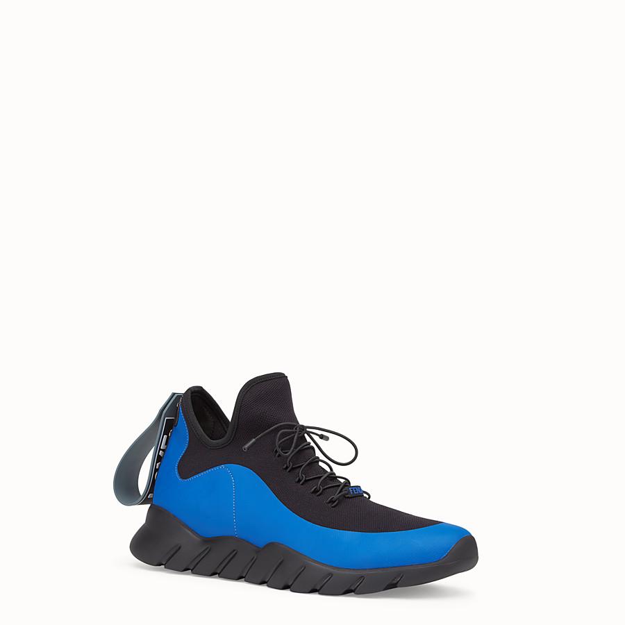 FENDI 運動鞋 - 拼色高科技針織布料運動鞋 - view 2 detail