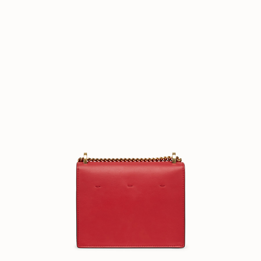 FENDI KAN U SMALL - Red leather mini-bag - view 4 detail