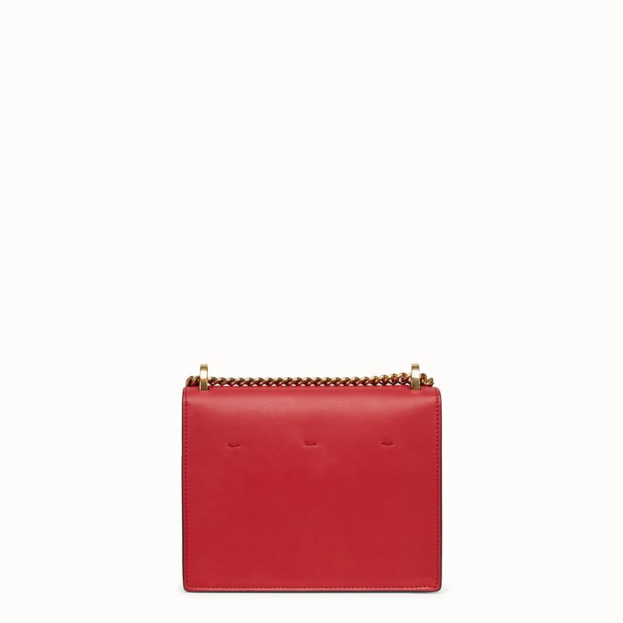 FENDI KAN U KLEIN - Mini-Tasche aus Leder in Rot - view 4 detail