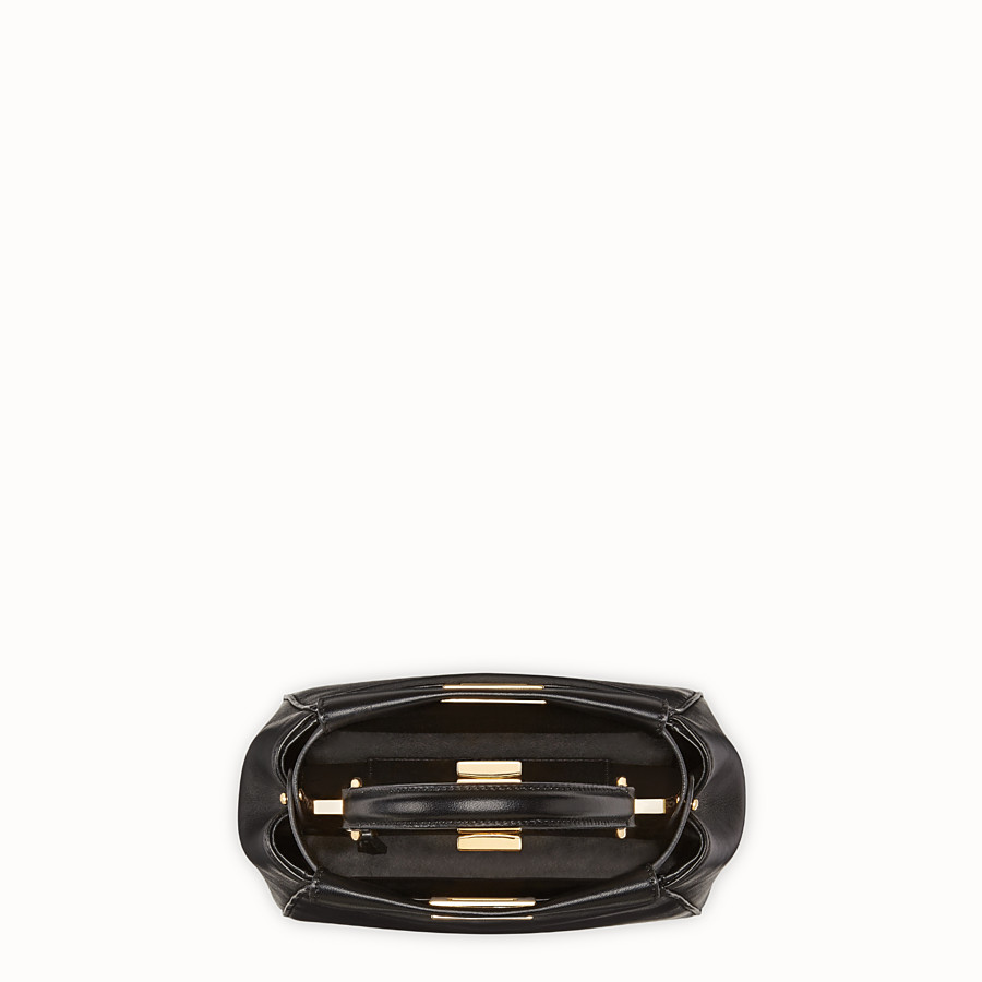 FENDI PEEKABOO XS - Black nappa leather minibag - view 5 detail