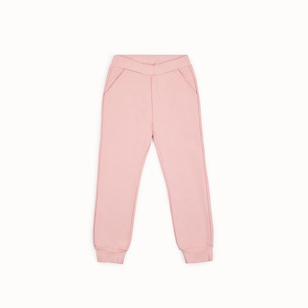 FENDI TROUSERS - Pink fleece jogging trousers - view 1 small thumbnail