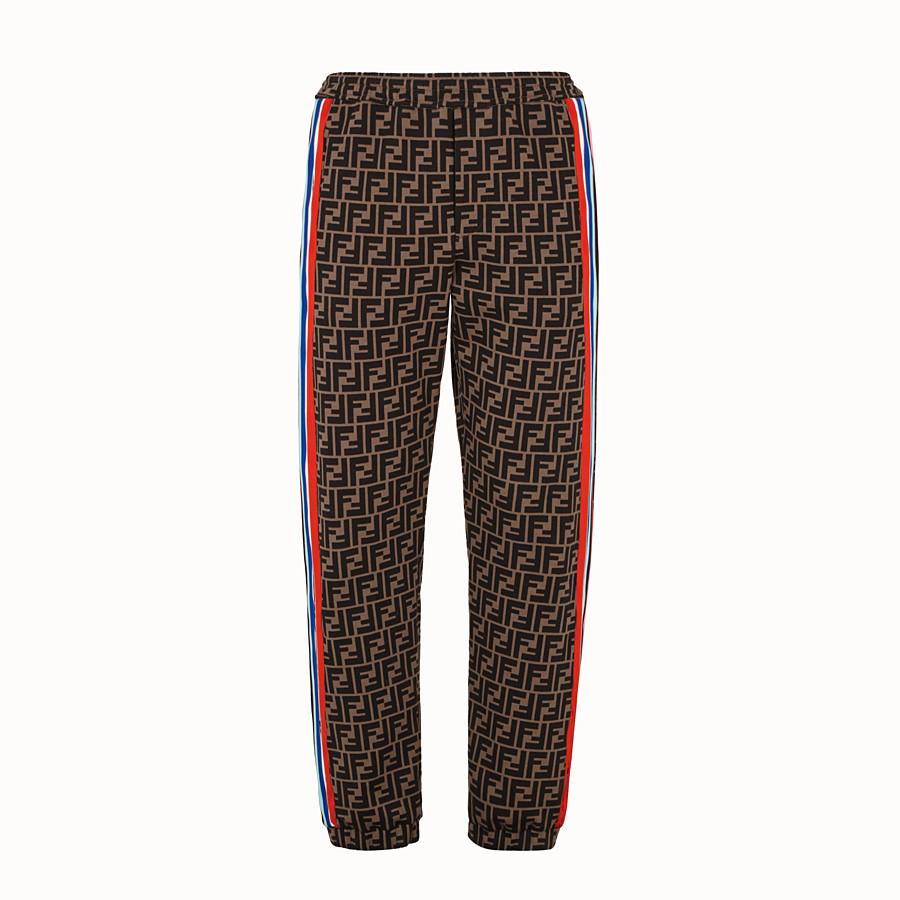 FENDI TROUSERS - Fendi Roma Amor fabric trousers - view 1 detail