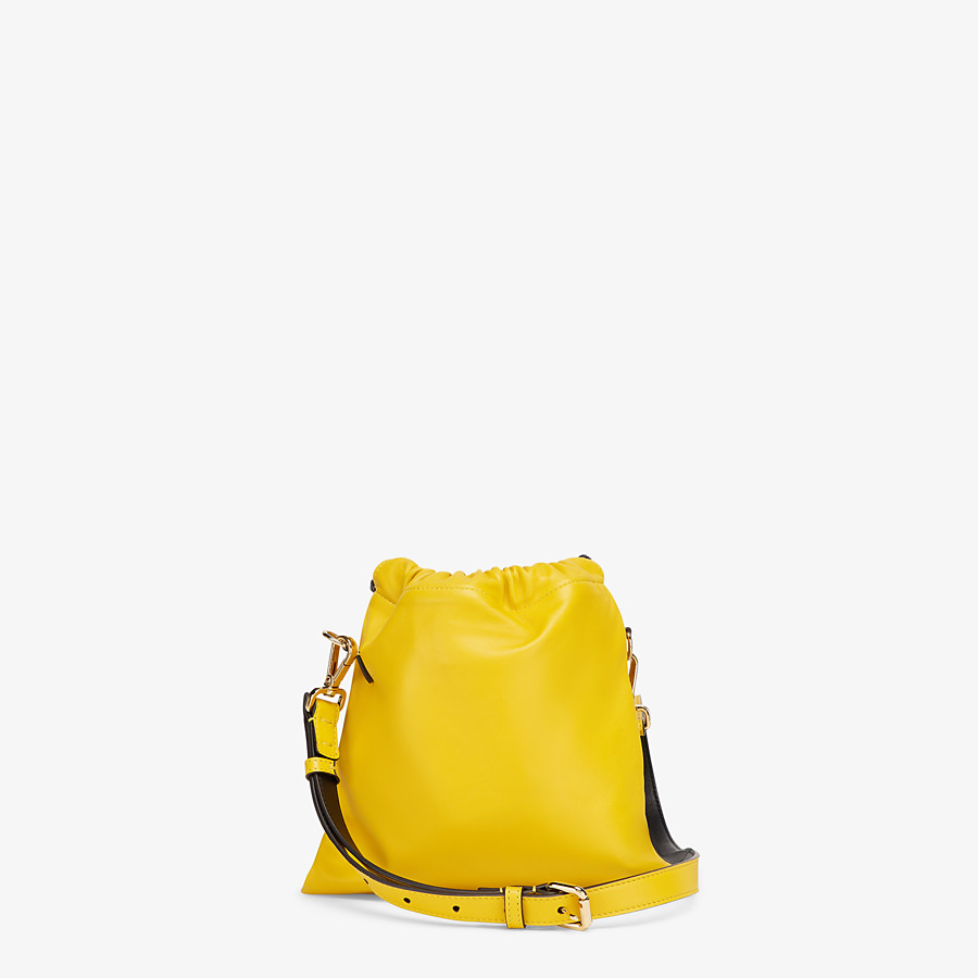 FENDI FENDI PACK SMALL POUCH - Yellow nappa leather bag - view 3 detail