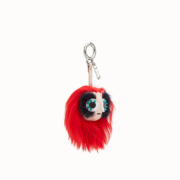 FENDI MINI BAG BUGS CHARM - Charm in multicolour fur - view 1 small thumbnail