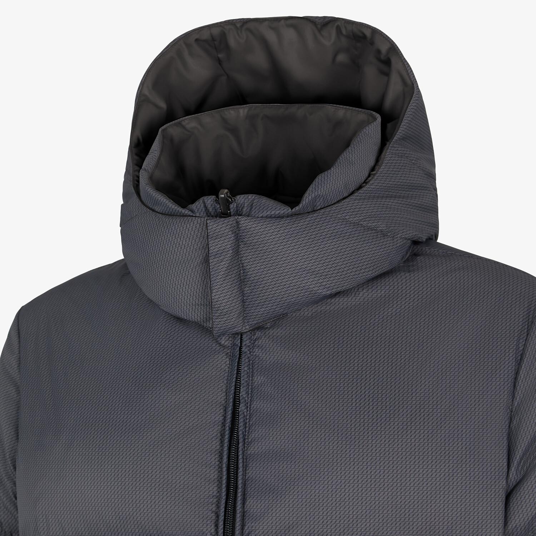FENDI DOWN JACKET - Gray nylon down jacket - view 4 detail