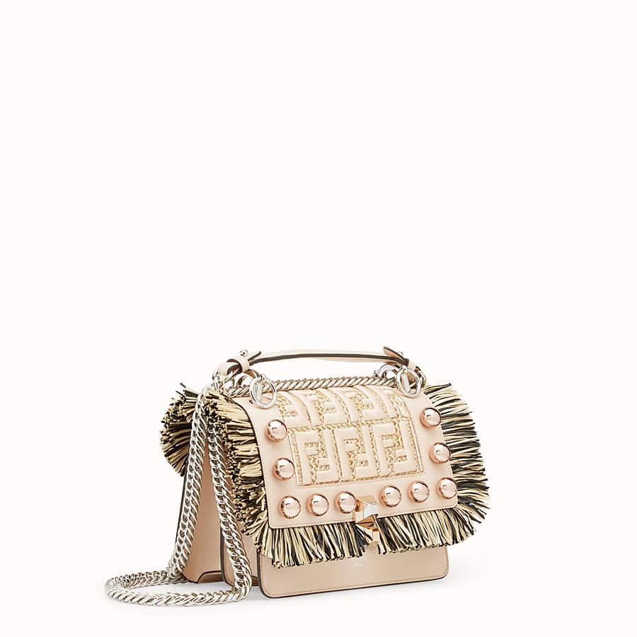 FENDI KAN I SMALL - Pink leather mini-bag - view 2 detail