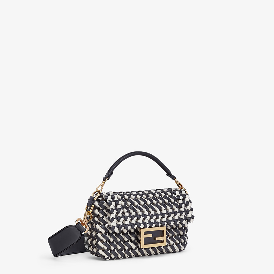 FENDI BAGUETTE - Leather and canvas interlace bag - view 3 detail