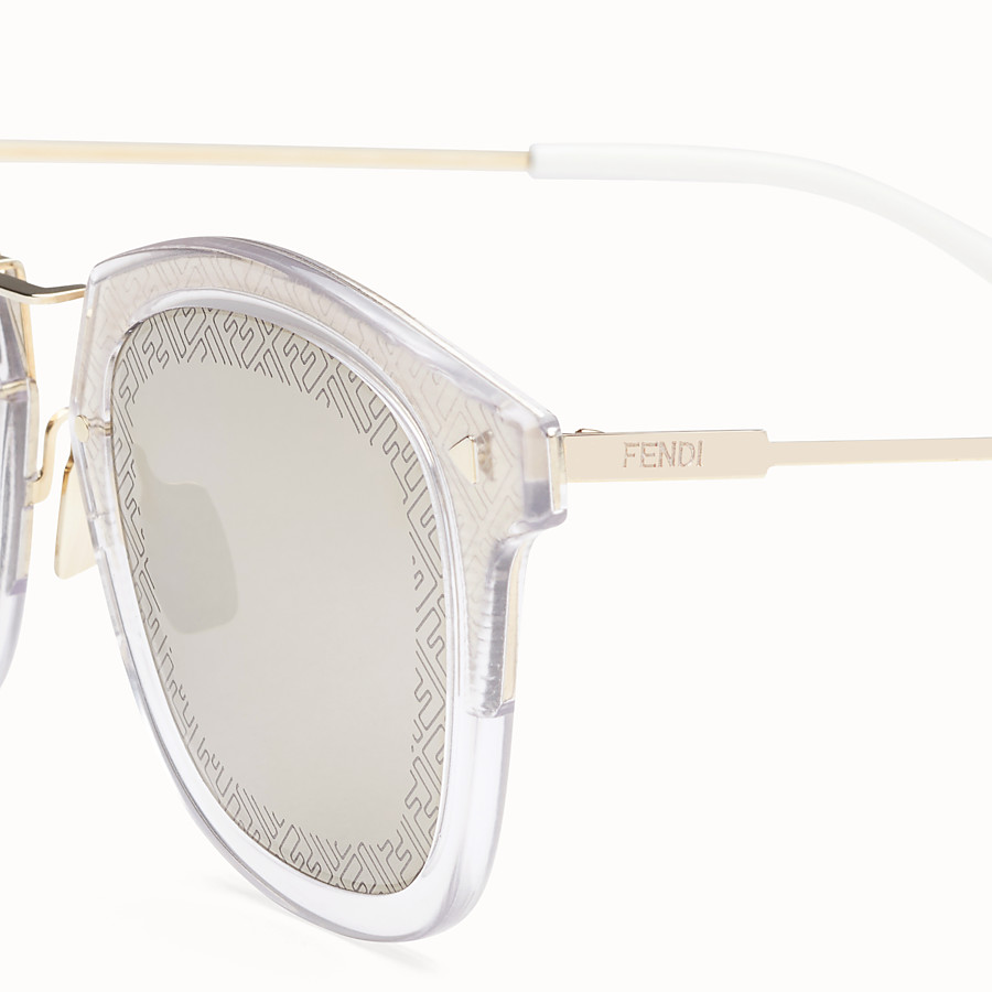 FENDI FF - Transparent and gold sunglasses - view 3 detail