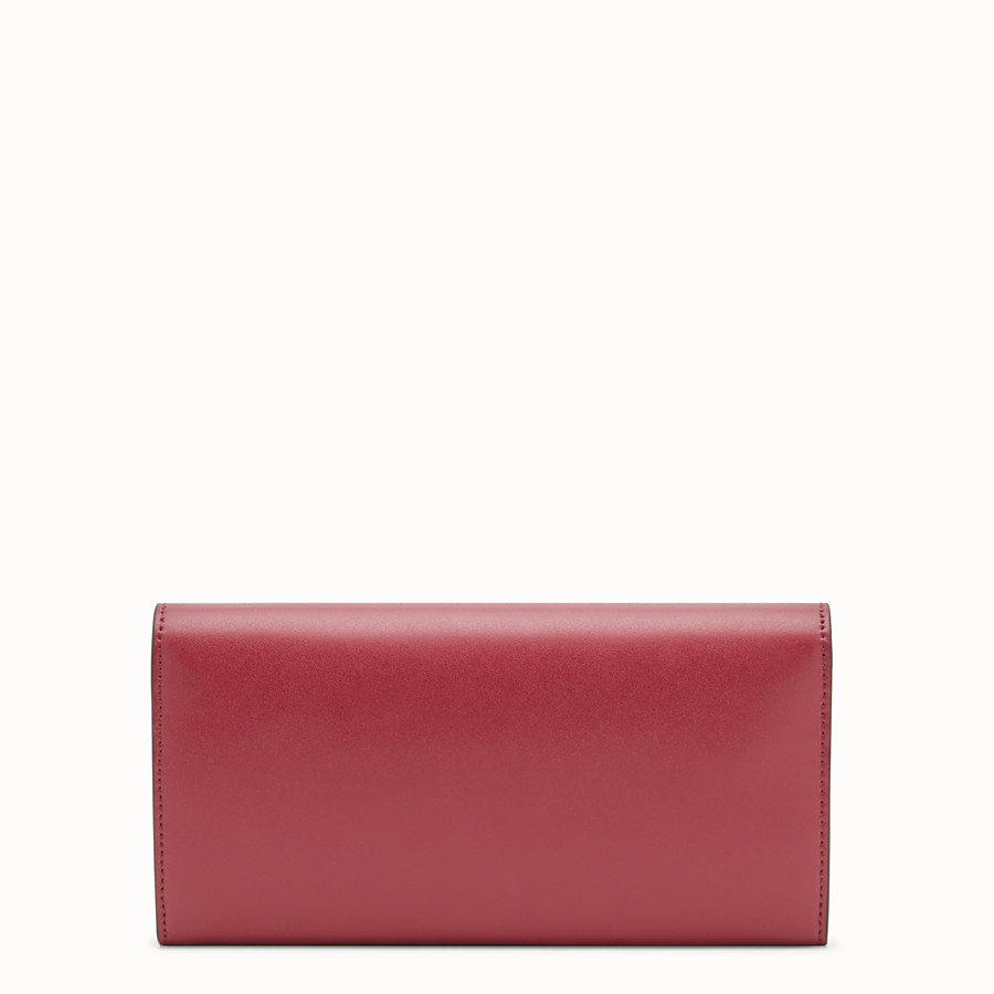 FENDI CONTINENTAL WITH CHAIN - Red leather wallet - view 3 detail