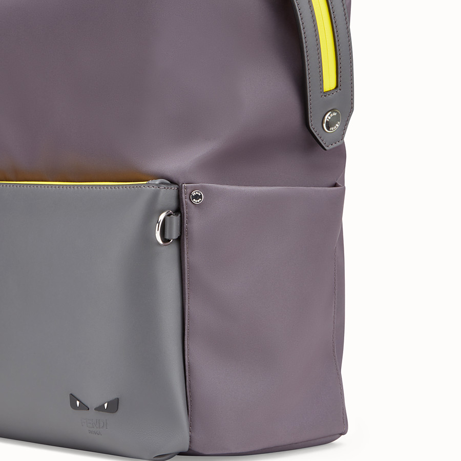 FENDI BACKPACK - Grey nylon backpack - view 4 detail