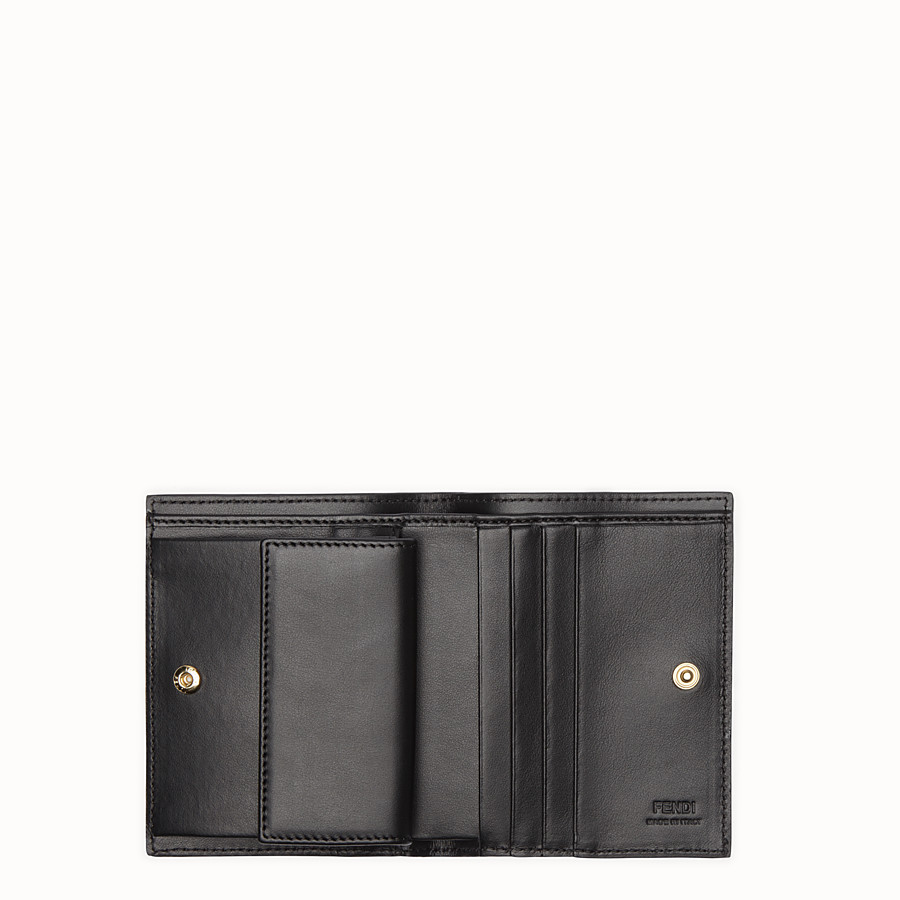 FENDI WALLET - Black leather bi-fold - view 4 detail
