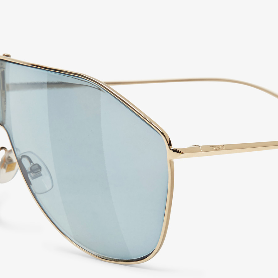 FENDI FF FAMILY - Metal sunglasses with Pequin motif - view 3 detail