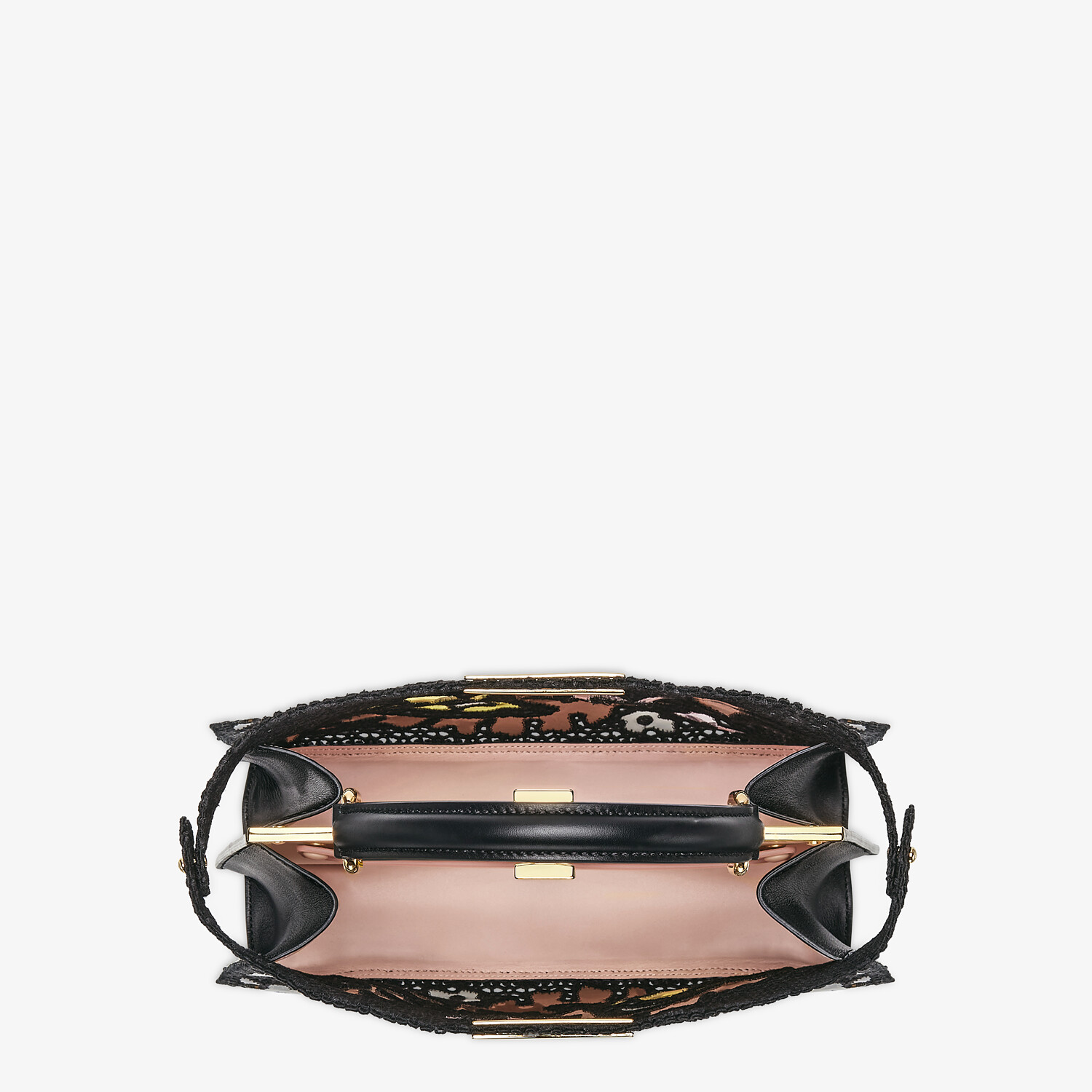 FENDI MEDIUM PEEKABOO ISEEU - Black lace bag - view 7 detail